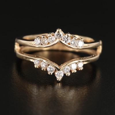 14K Yellow Gold Diamond Ring Jacket