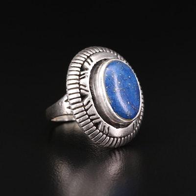 Southwestern Sterling Silver Lapis Lazuli Ring