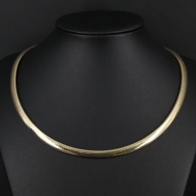 14K Gold Omega Chain Necklace