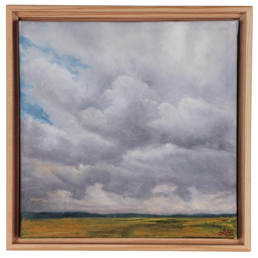 "Sarah Brown Oil Painting ""Clouds III"""
