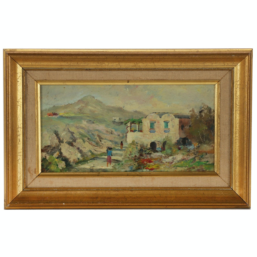 Landscape Oil Painting, Mid 20th Century