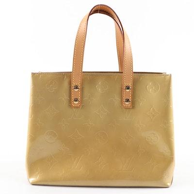 Louis Vuitton Reade PM Handbag in Monogram Vernis and Vachetta Leather