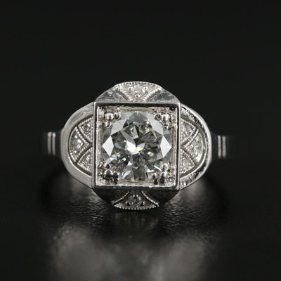 Art Deco Platinum 1.27 CTW Diamond Ring