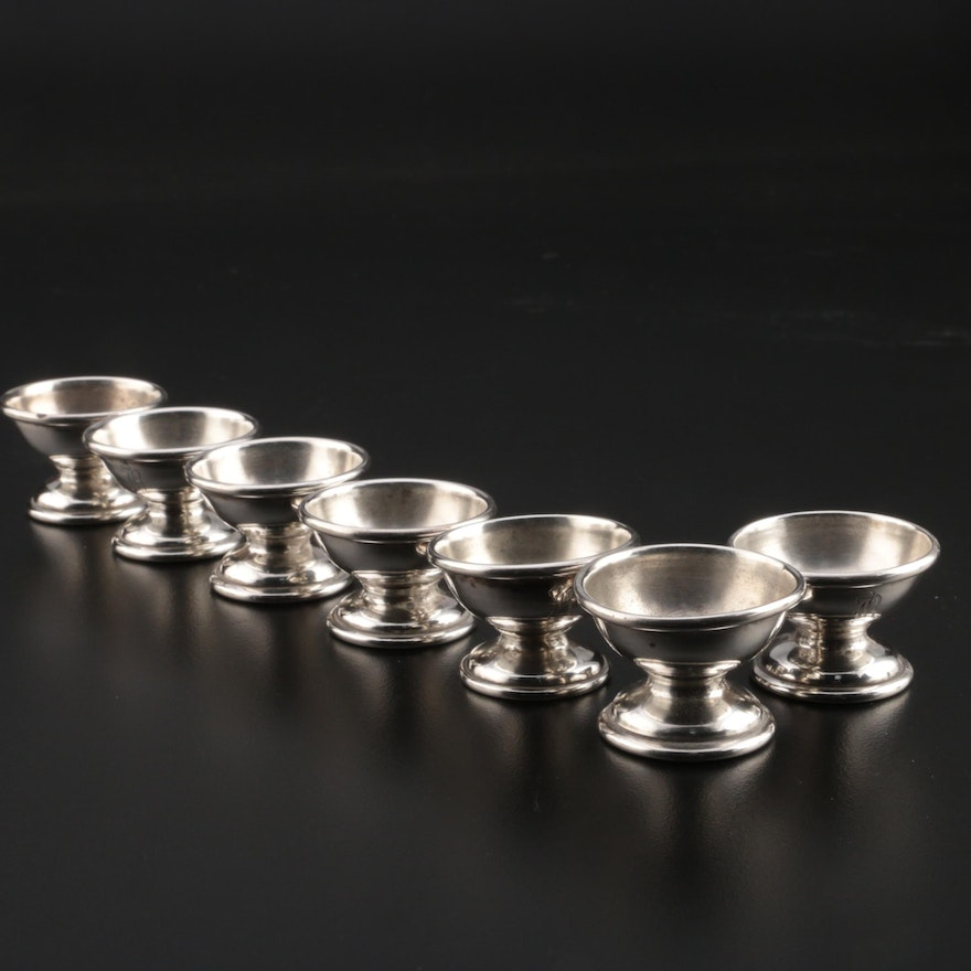 Duhme & Co. Sterling Silver Individual Salt Cellars, Late 19th Century