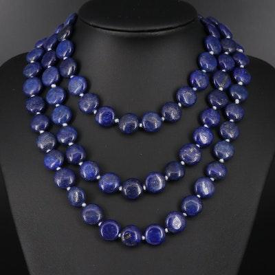 Lapis Lazuli Endless Beaded Necklace