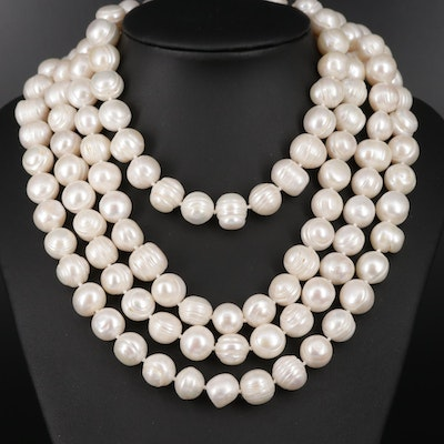 Endless Baroque Pearl Strand Necklace