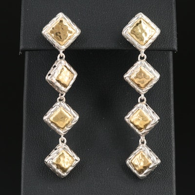 "John Hardy ""Palu"" Sterling Silver Earrings with 22K Gold Accents"