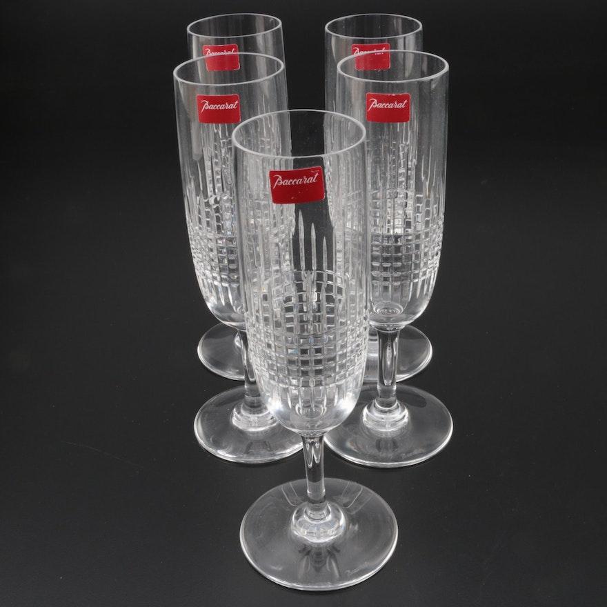 "Baccarat ""Nancy"" Crystal Champagne Flutes"