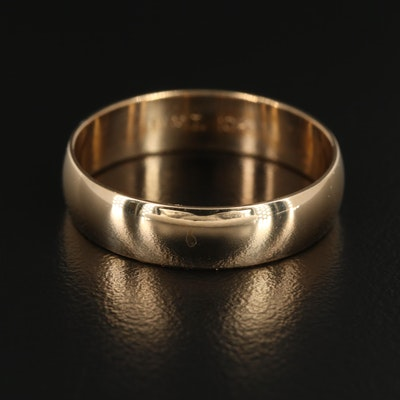 10K Yellow Gold Half Round Band Ring