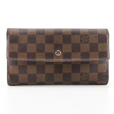 Louis Vuitton Porte Tresor International Wallet in Damier Coated Canvas