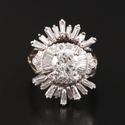 14K Gold 3.62 CTW Diamond Ring