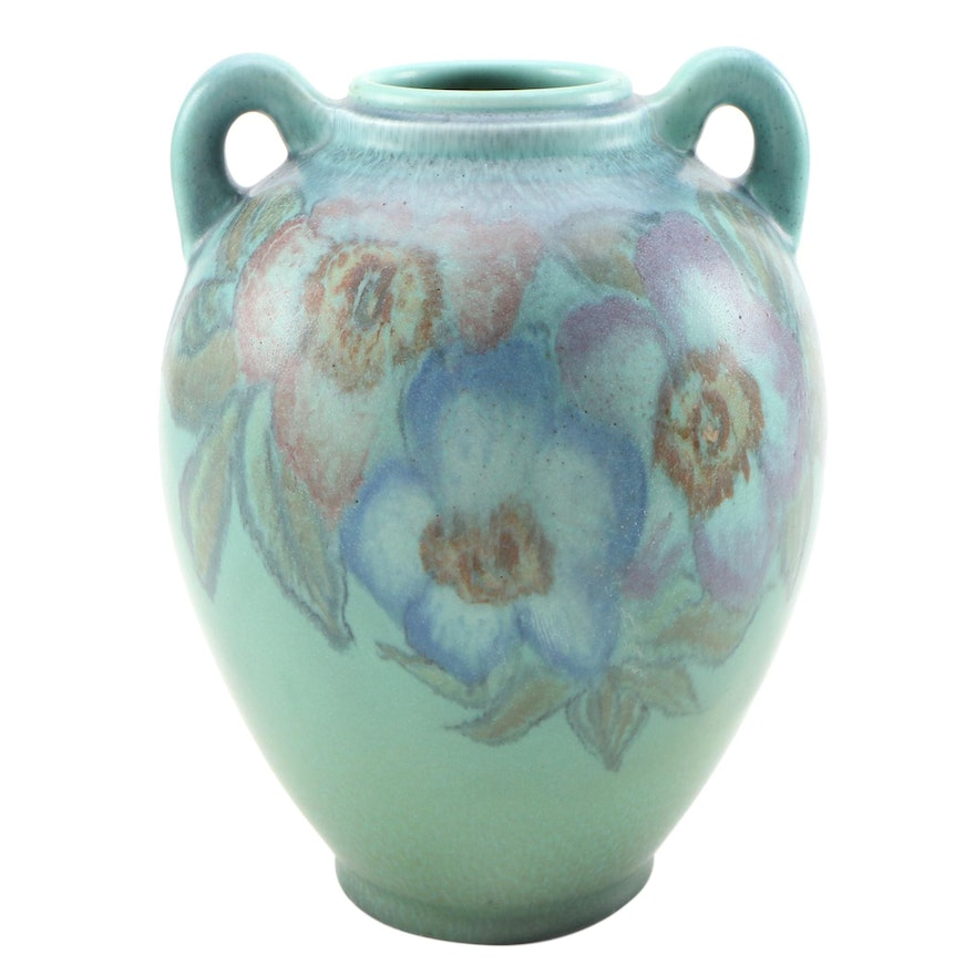 Delia Workum Rookwood Pottery Matte Glaze Vase with Handles, 1928