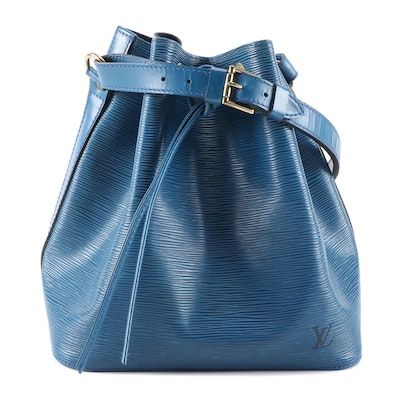 Louis Vuitton Petit Noé in Toledo Blue Epi Leather