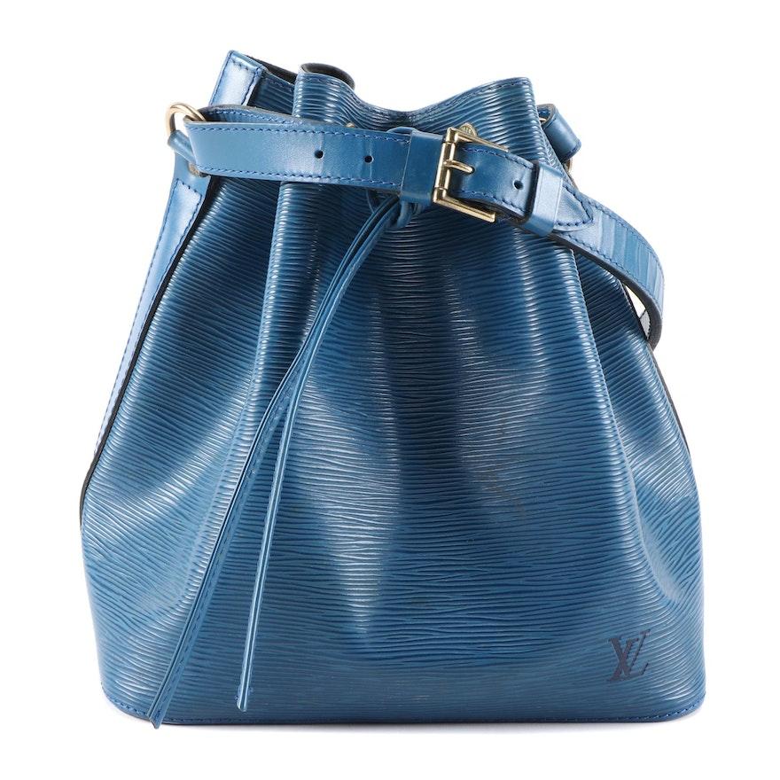 Louis Vuitton Petit Noé in Toledo Blue Epi Leather