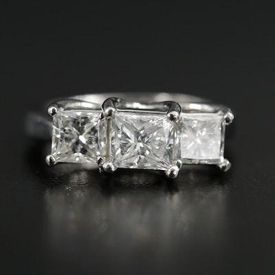 Platinum 1.90 CTW Diamond Three Stone Ring