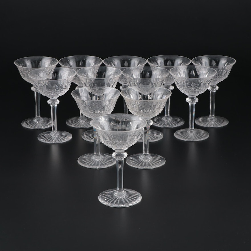 """French St. Louis Crystal """"Tommy""""  Champagne Coupes"""