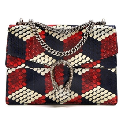 Gucci Multicolor Python Medium Dionysus Shoulder Bag