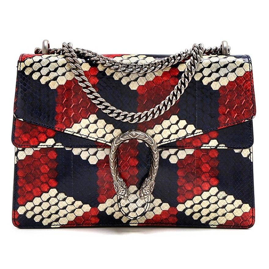 Gucci Multicolor Python Medium Dionysus Shoulder Bag