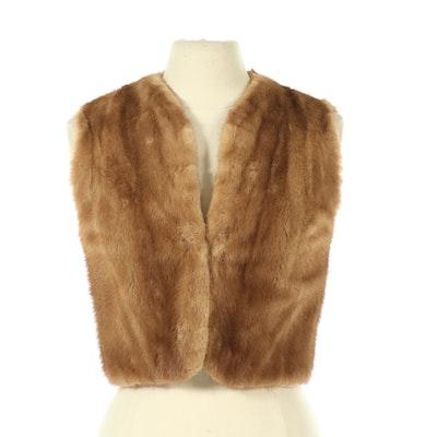 Pastel Mink Fur Vest by Montaldo's, Vintage