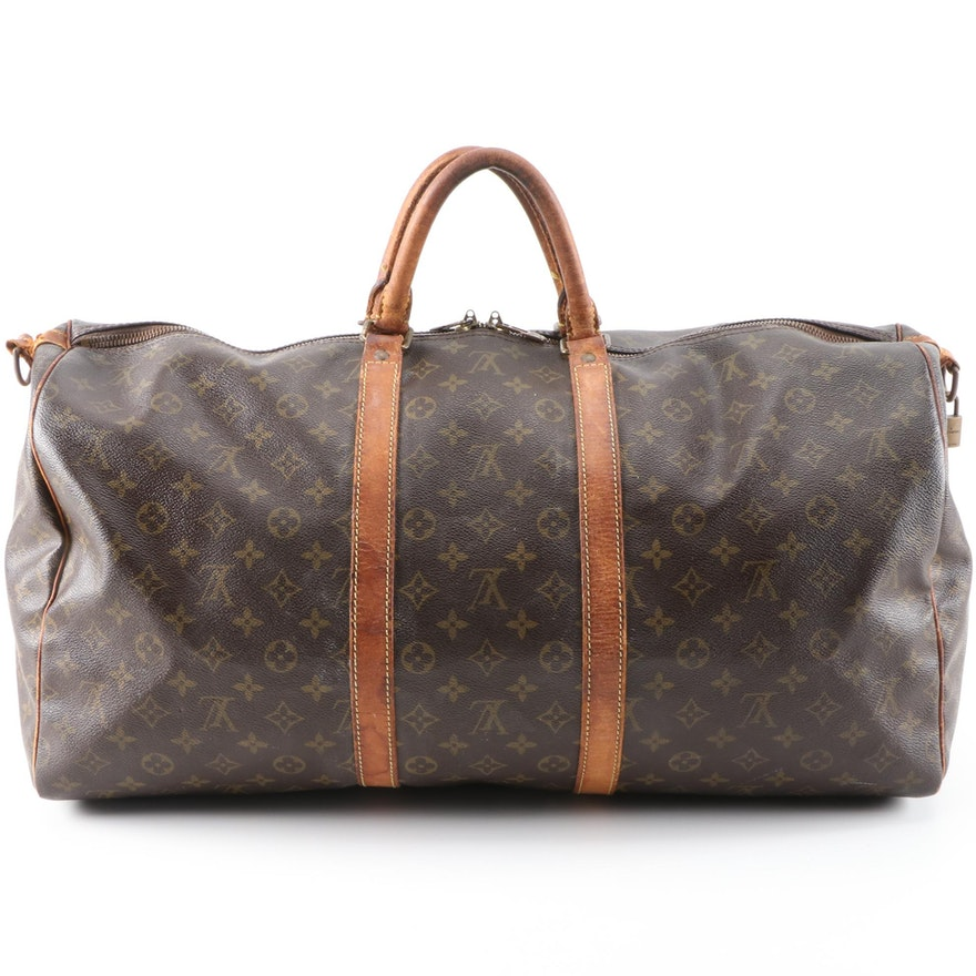 Louis Vuitton Keepall Bandoulière 55 in Monogram Canvas and Leather