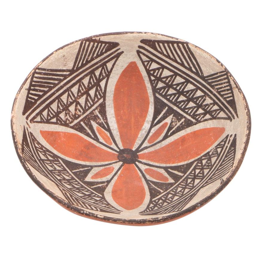 Acoma Pueblo Style Pottery Bowl