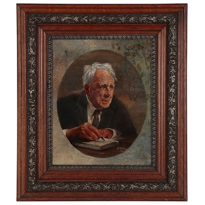 Judy Horowitz Oil Painting Portrait of Robert Frost, 1999