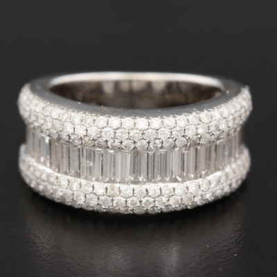 14K White Gold 2.18 CTW Diamond Band