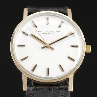 Girard Perregaux Gyromatic Gold Filled Automatic Wristwatch, Circa 1980