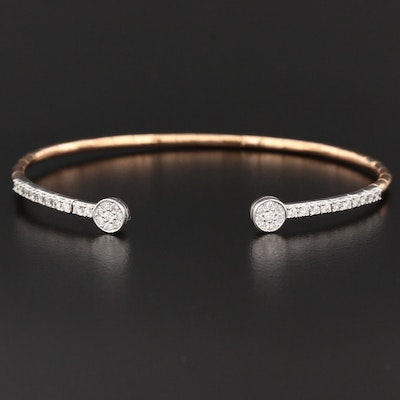 18K Gold Diamond Flex Bracelet