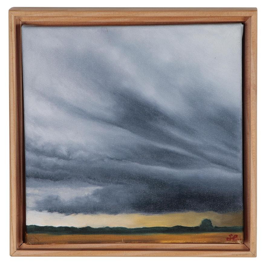 """Sarah Brown Oil Painting """"Clouds II"""""""