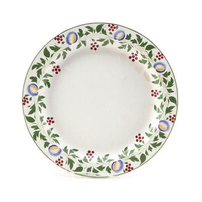 Copeland & Garrett Late Spode Porcelain Round Serving Platter, Mid-19th Century