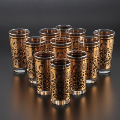 "Libby ""Prudential"" Glass Tumblers and Highball Glasses, Mid-20th Century"