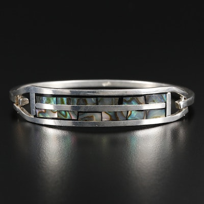 Mexican Sterling Silver Abalone Bracelet