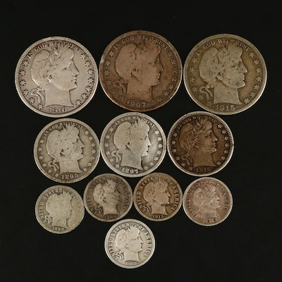 Assortment of Barber Silver Coinage