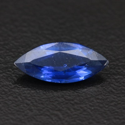 Loose 1.26 CT Unheated Burmese Blue Sapphire with GIA Report
