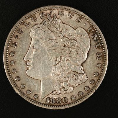 Low Mintage 1880-CC Morgan Silver Dollar
