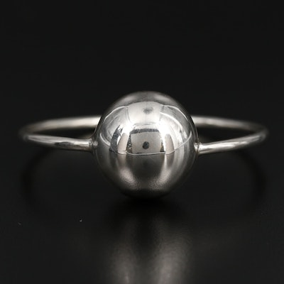 Mexican Sterling Silver Baby Rattle Teething Ring
