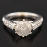 18K White Gold 1.31 CTW Diamond Ring