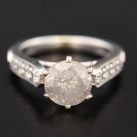 18K White Gold 1.31 CTW Diamond Ring