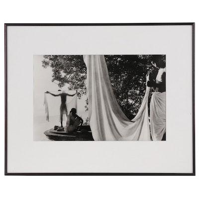 "Marc Riboud Silver Gelatin Print ""Benares, India, 1956"""