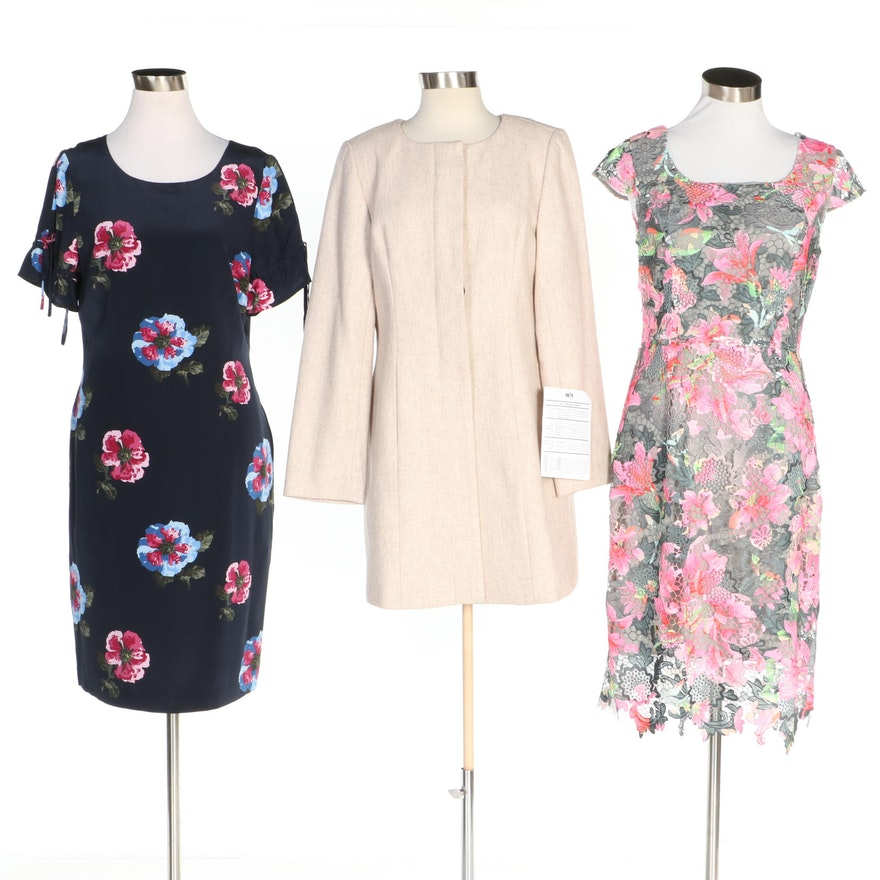 J. Peterman Dresses and Coat Including Chromatic Lace Dress