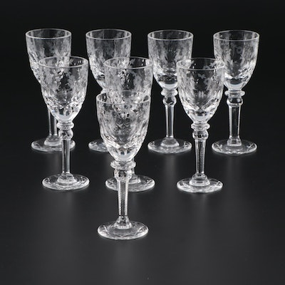 "Rogaska ""Gallia"" Cut Crystal Cordial Glasses, Late 20th Century"