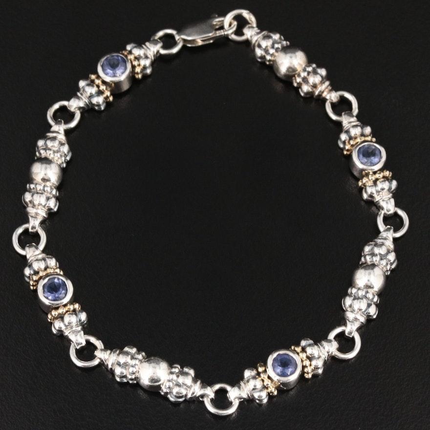 Caviar By Lagos Sterling Silver Iolite Bracelet