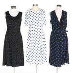 J. Peterman Polka Dotted Dresses Including Ruffle Wrap Dress