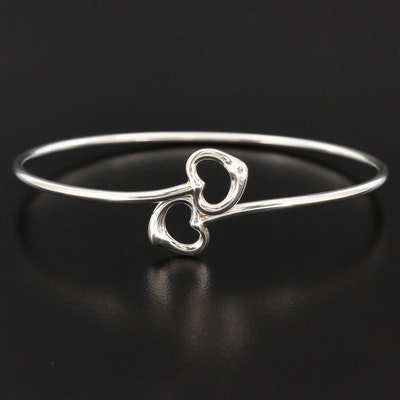 Elsa Peretti for Tiffany & Co. Sterling Silver Double Open Heart Bangle