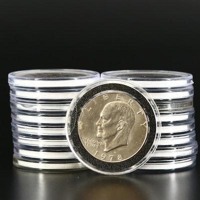 Seventeen Clad Eisenhower Dollars