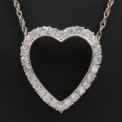 14K Gold 1.56 CTW Diamond Heart Necklace