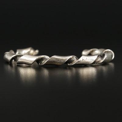 Southwestern Peter Johnson Sterling Silver Cuff Bracelet