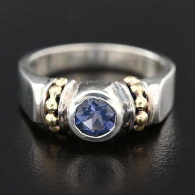 Caviar by Lagos Sterling Iolite Ring with 18K Yellow Gold Accents
