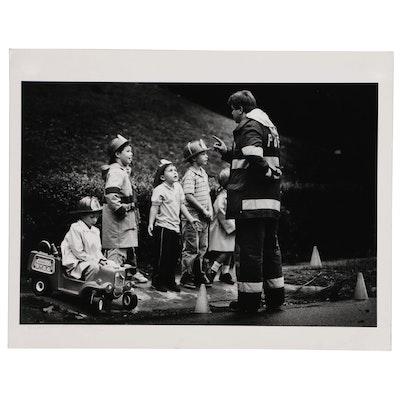 "William D. Wade Silver Gelatin Photograph ""Teaching a Lesson"""